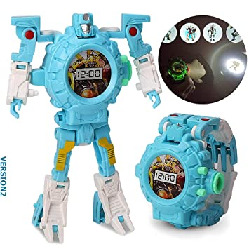 gomamo Kids Toys, Transforming Robot Toy as Boy Toys, Projection Watch for  Age 3