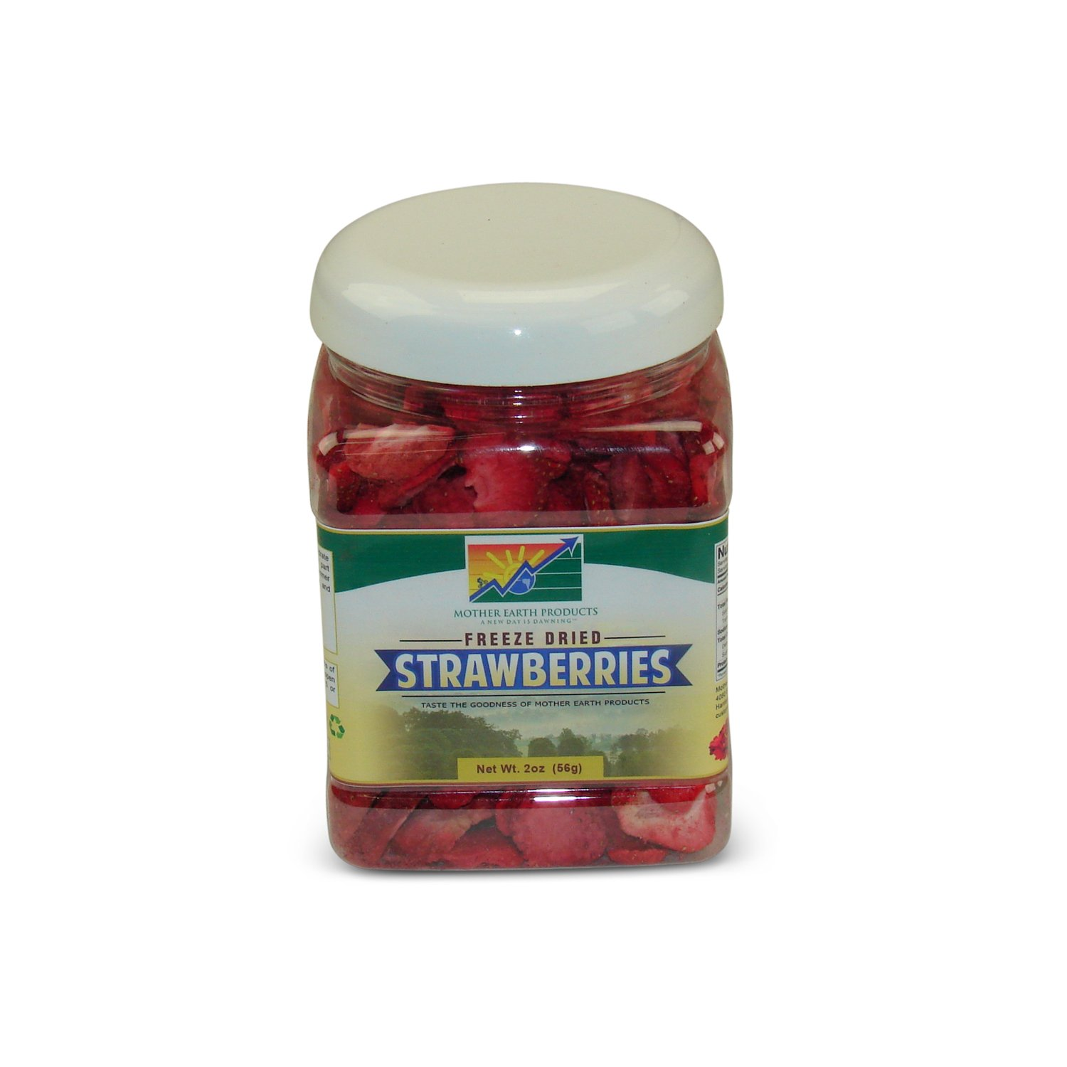 Mother Earth Products Freeze Dried Strawberries, Quart Jar