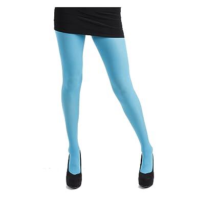 ef06019b29b34 Pamela Mann Neon 80 Denier Opaque Tights - Flo Turquoise: Amazon.co.uk:  Clothing