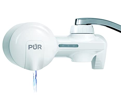 pur pfm150w filtration system white horizontal faucet mount with 1 ...