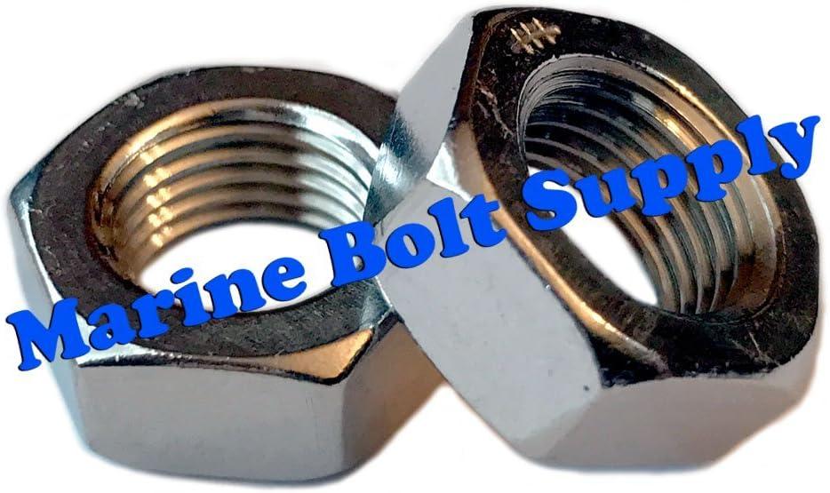 Type 18-8 Stainless Steel Thin//Jam Nut Assortment Kit Marine Bolt Supply 8-111014