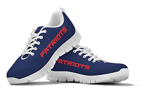 02fbdbcc New England Themed Casual Athletic Running Shoe Mens Womens Sneakers Sizes  Patriots Football Apparel and Gifts for Men Women Patriot Merchandise