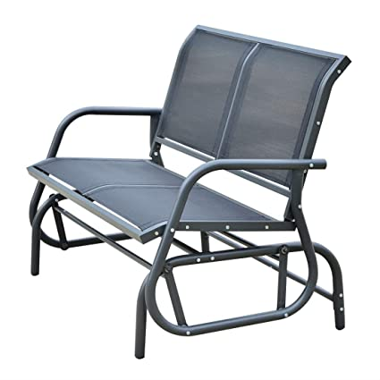Amazon.com: Outsunny Patio doble 2 personas Glider banco ...