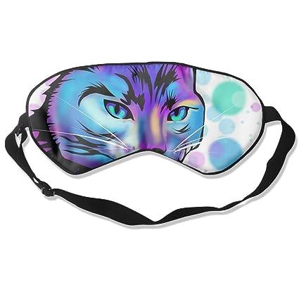 MB32 Máscara de Dormir para Gato Fantasy Ojo de Gato, máscaras Opacas para Ojos,
