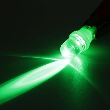 MASUNN 12V T10 W5W 501 Led Coche Señal Intermitente Luces Laterales Bombilla - Verde: Amazon.es: Hogar