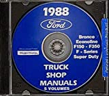 A MUST FOR OWNERS, MECHANICS & RESTORERS - THE 1988 FORD PICKUP TRUCK REPAIR SHOP MANUAL CD F-Series, Super Duty, F-150, F-250, F-350, Bronco. 88