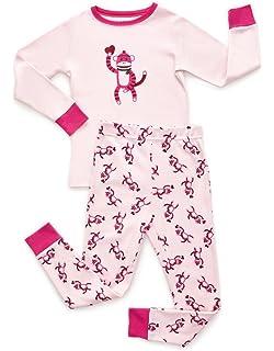 09225ef85 Amazon.com  Leveret Striped Kids   Toddler Girls Pajamas 2 Piece Pjs ...