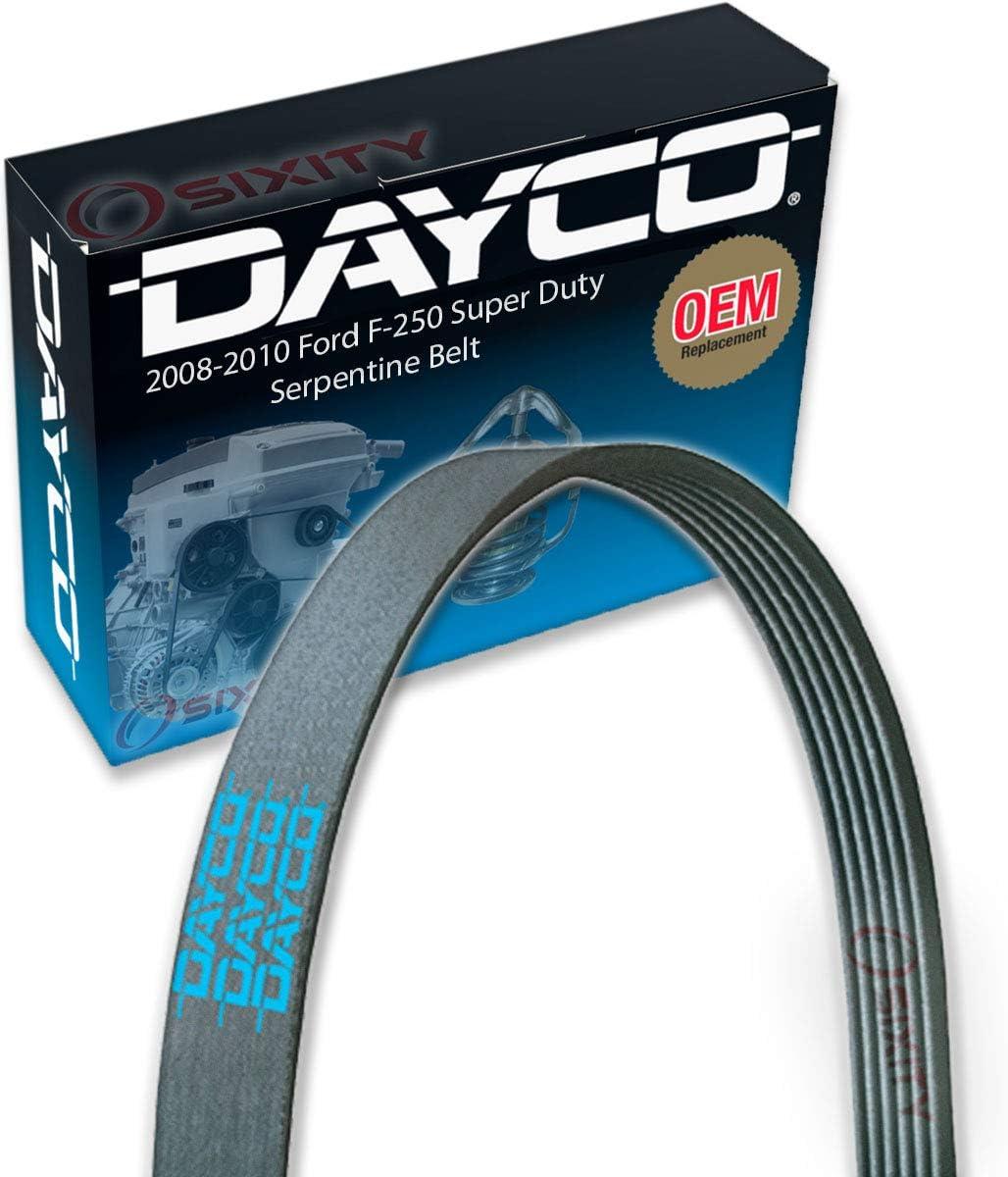 Dayco Main Drive Serpentine Belt for 2008-2010 Ford F-250 Super Duty 5.4L 6.8L V10 V8 Accessory Drive Belts Cooling System