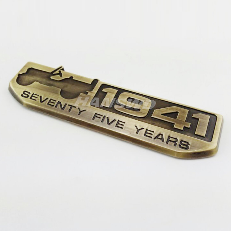 Anzene 75 A/ño 1941 aniversario Metal emblema placa para CHEROKEE de SUV Patriot br/újula 2 pcs Silver