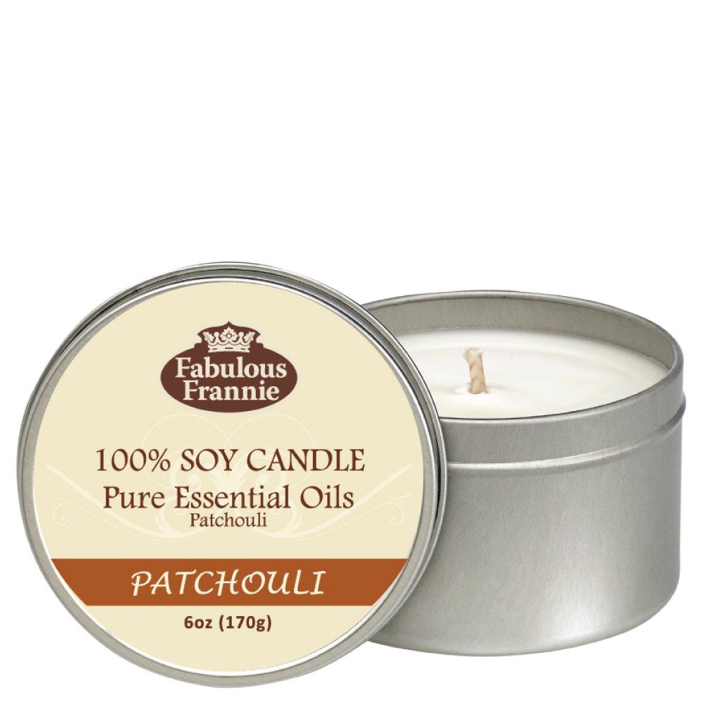 Fabulous Frannie Patchouli 100% Pure & Natural Soy Candle 6 oz