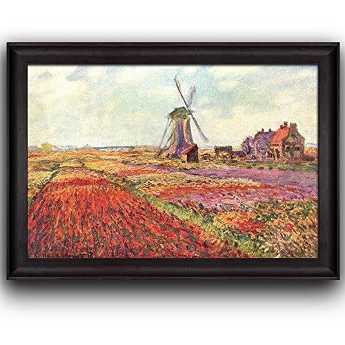 Field Tulips in Holland by Claude Monet Framed Art