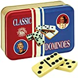 Channel Craft Classic Dominoes Game In Tin With Retro Artwork - Made In USA