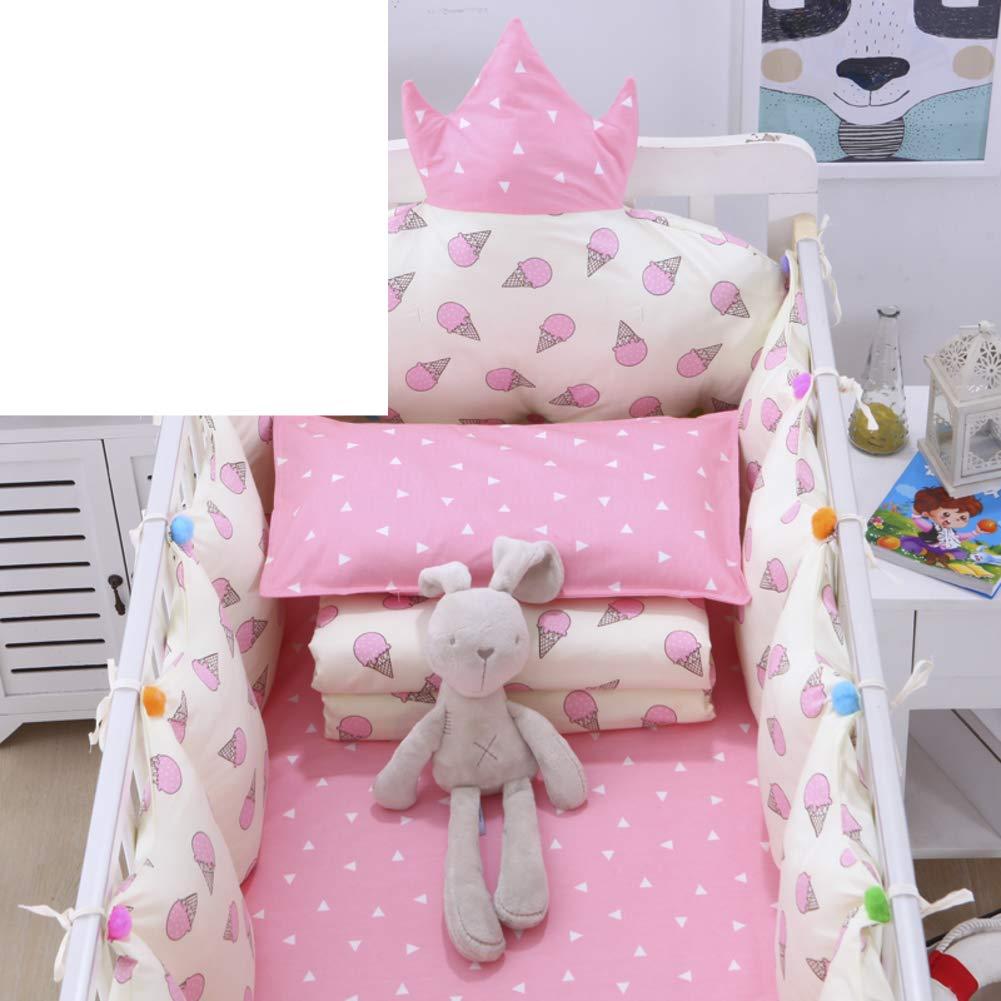 Xxn コットンのリバーシブル ベビー寝具セット,バンパーのすべてのラウンド ユニセックス 無衝突赤ちゃんベビーベッド バンパー パッド入りベビーベッド バンパー2-防止アレルギー 2-F パッケージA   B07KY6V5M9