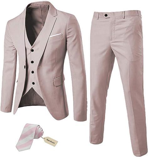 Amazon.com: MYS - Conjunto de 3 piezas para hombre de estilo ...