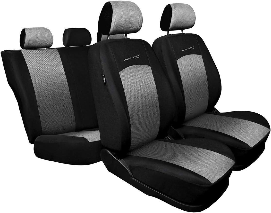 Sitzbezüge Sitzbezug Schonbezüge für Nissan X Trail Hellgrau Sportline Set