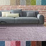 iCustomRug Bella Shag Rug - Luxurious and Thick Lilac 8 Feet X 10 Feet (8' x 10') Soft & Shaggy Double Textured Fiber For A Modern Home Decor