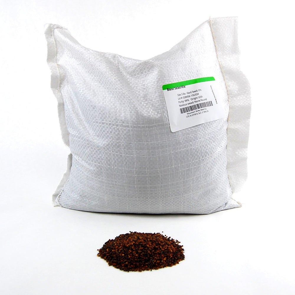 Basic Salad Mix Micro Greens Seeds: 25 Lb - Bulk Non-GMO Seed Blend: Broccoli, Kale, Kohlrabi, Cabbage, Arugula, More