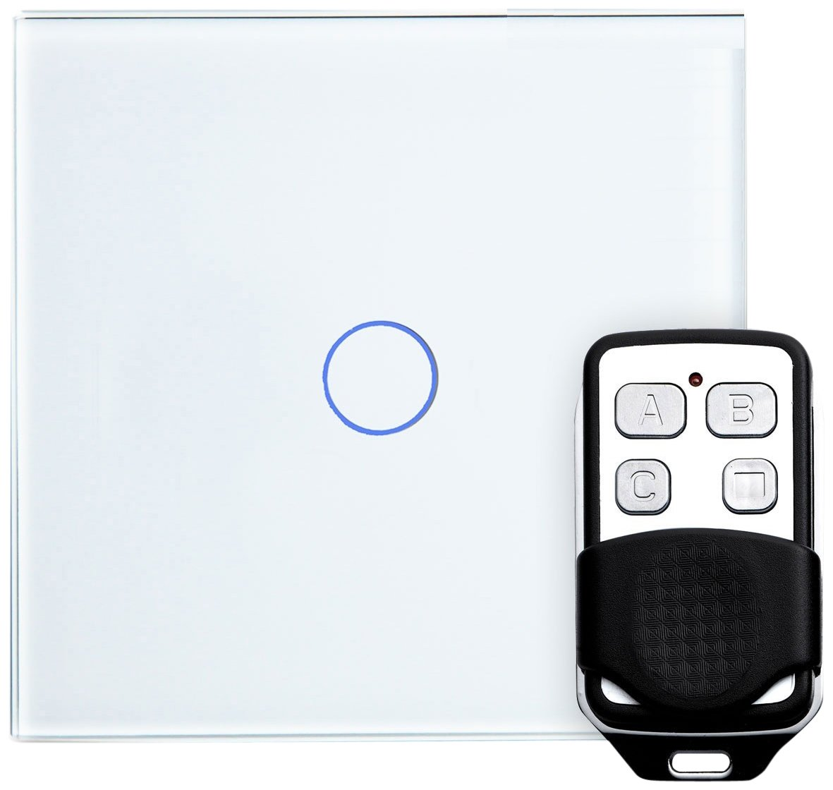 Retrotouch LED Dimmer Touch and Remote Light Switch 1 Full Glass ...