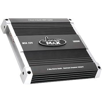 Lanzar MXA224 1000W Amplificador MOSFET puenteable de 2 Canales