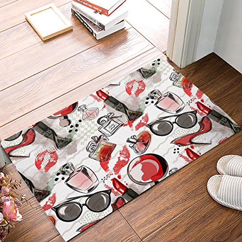 EZON-CH Modern Non Slip Bathroom Female Lipsticks Sunglasses Perfume Mat Toilet Geometry Floor Rug Tea Mat Table Mat Carpet Pad(16IN X - Customize Sunglasses