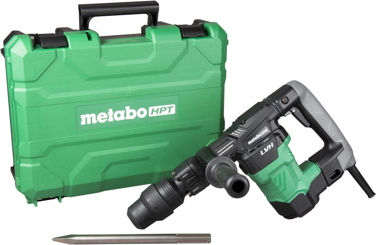 SDS Max Low Vibration Handle Aluminum Connecting Rod Impact Energy 7.4 ft-lbs 1-Year Warranty 11.5 lbs. Metabo HPT H41MB2 Demolition Hammer