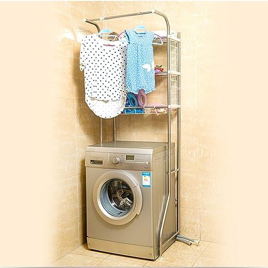 Estante ajustable del retrete del cuarto de baño sobre la lavadora ...