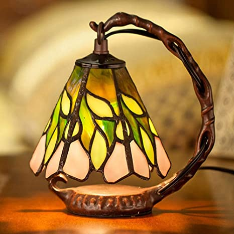 JJohnsn Lámpara de Mesa Tiffany Style Resina Vidrio ...