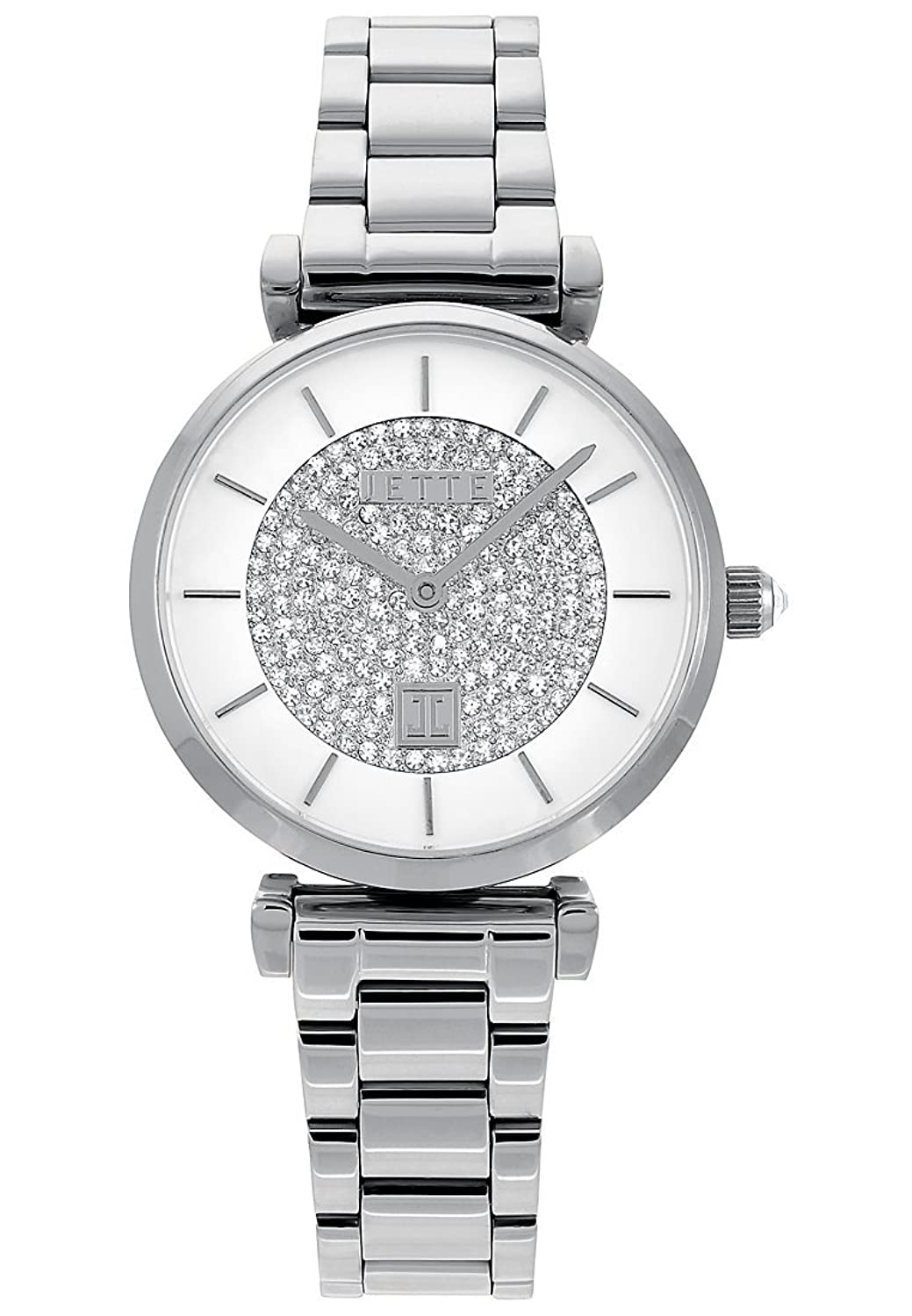 JETTE Time Damen-Armbanduhr Analog Quarz One Size - weiß - silber