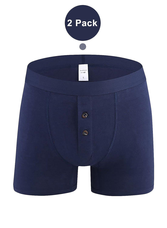 Dolamen Underwear Boxer Uomo Cotone Pacco Doppio Uomo Boxershort Trunk Briefs Pantaloncini Pigiama Shorts Slip Perizoma Intimo da Uomo