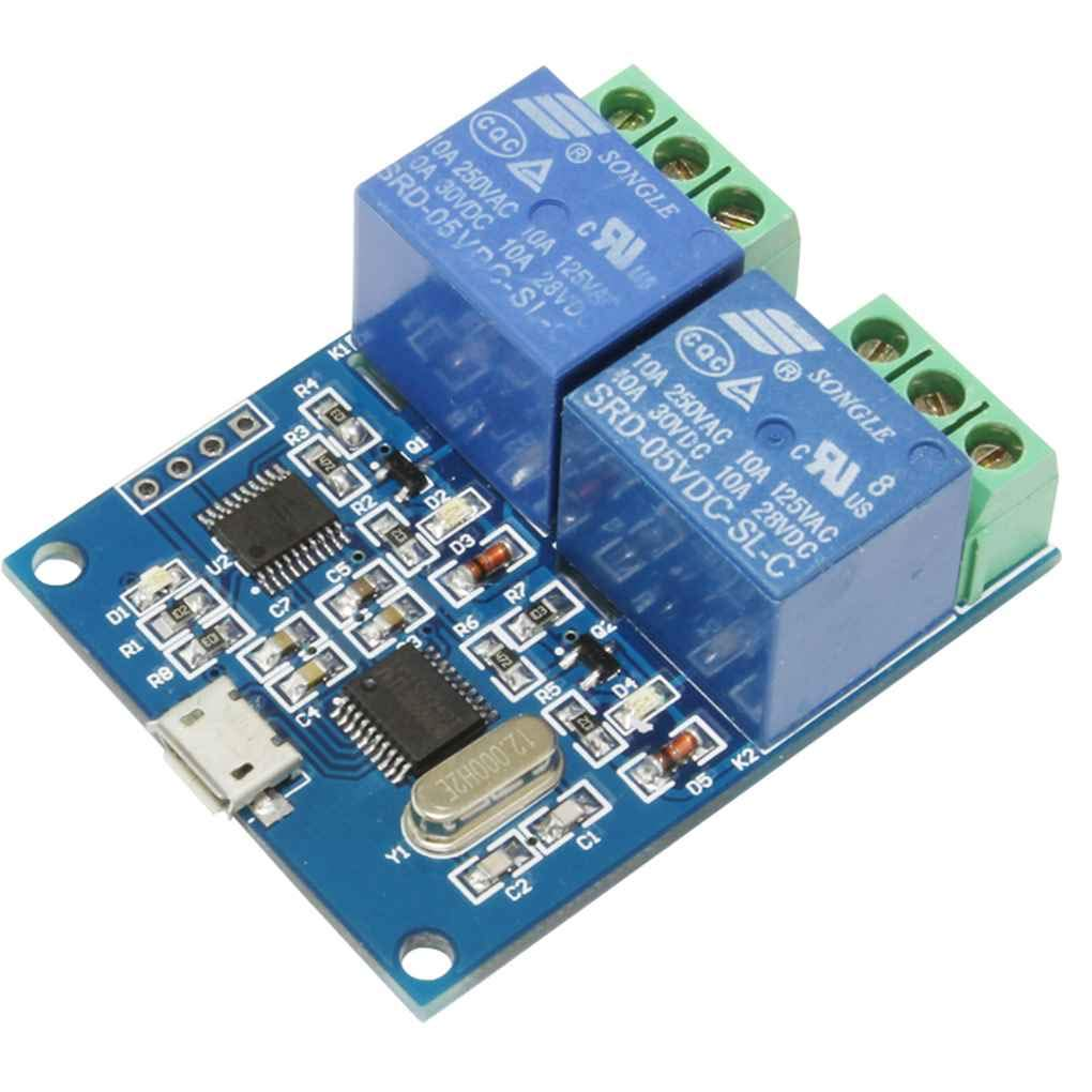 Onepeak LCUS-2 5V USB Relay Module USB Intelligent Control Switch Electronic Converter PCB Relay Module