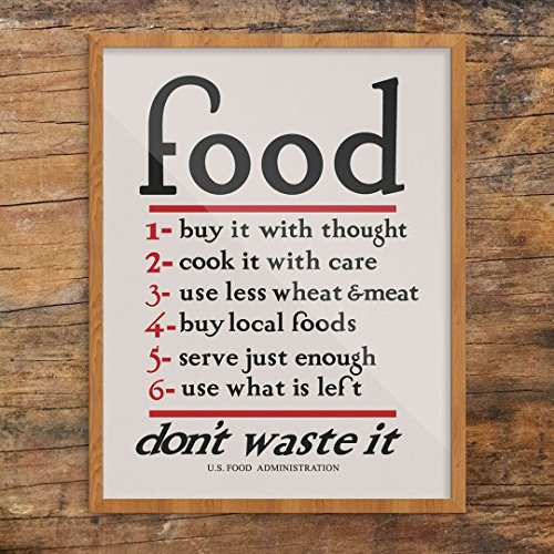 Fridgedoor Food Don't Waste It WPA Print