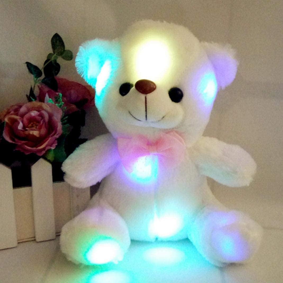 Peluche de oso de peluche con luz LED y almohada de regalo para ...