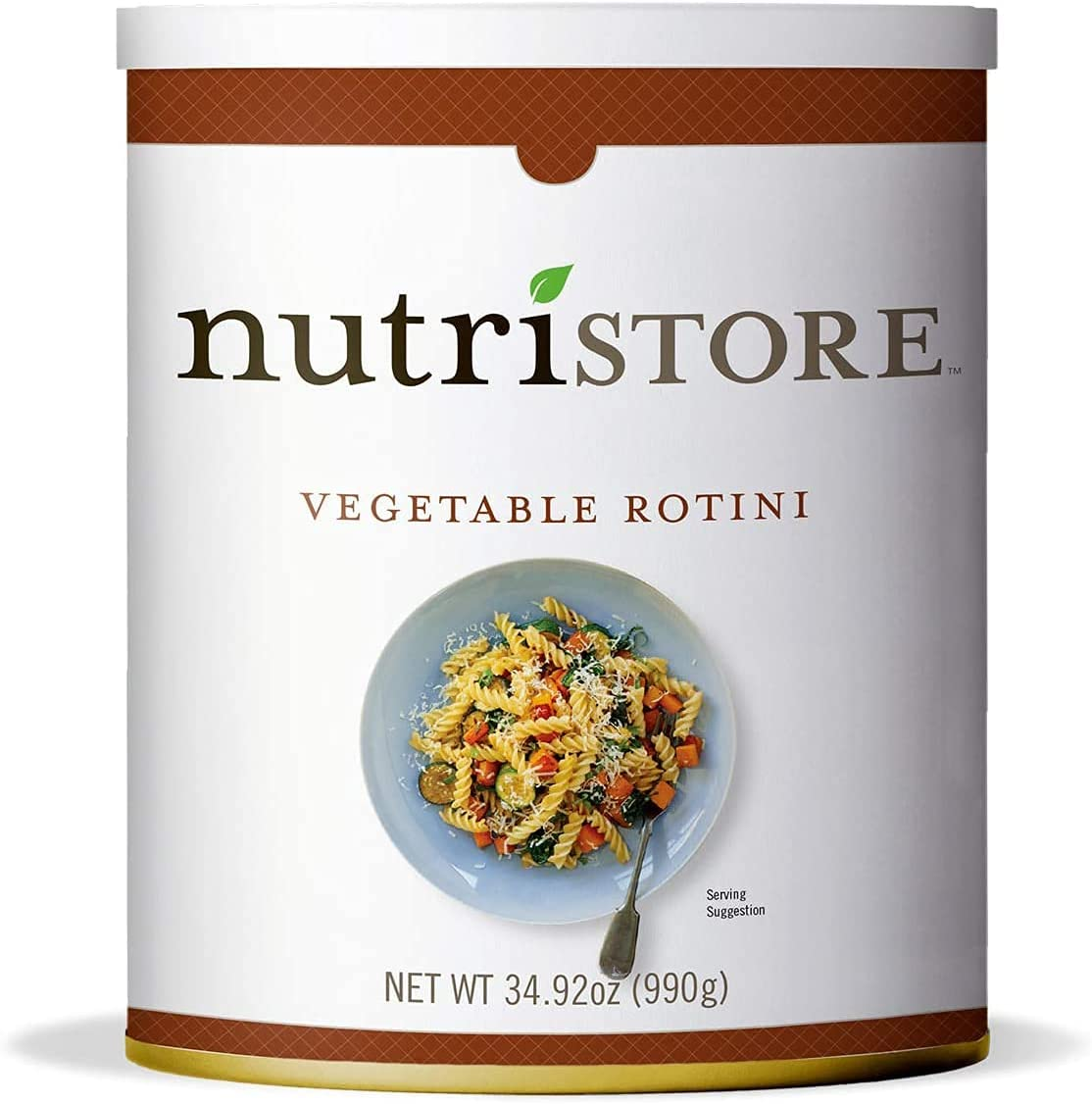Nutristore Vegetable Rotini #10 Can   Premium Variety Ready to Eat Meals   Bulk Emergency Food Supply   Breakfast, Lunch, Dinner   MRE   Long Term Survival Storage   25 Year Shelf Life