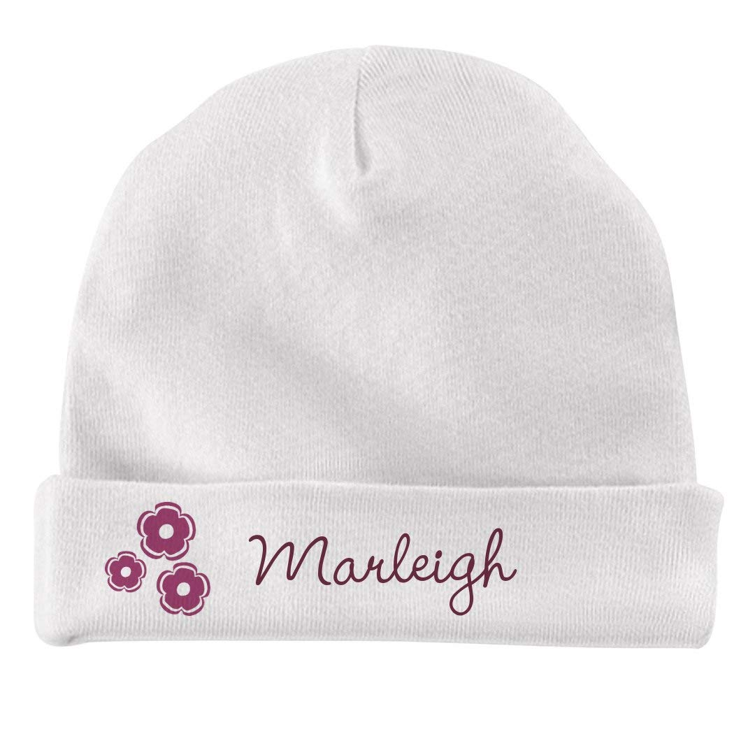 FUNNYSHIRTS.ORG Baby Girl Marleigh Flower Hat Infant Baby Hat
