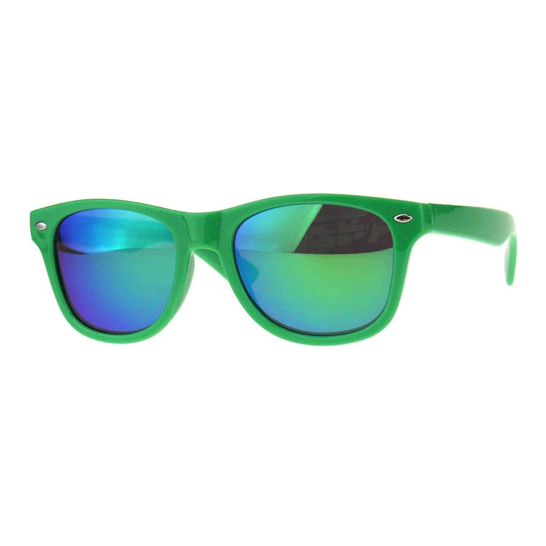 Kid's Sunglasses Classic Square Frame Mirrored Lens UV 400 Silver Mirrored Lens UV 400