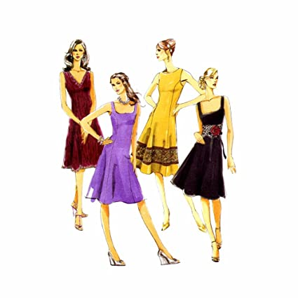 McCalls Sewing Pattern M5232 Misses/Miss Petite Lined Dresses Size 6 - 8 -