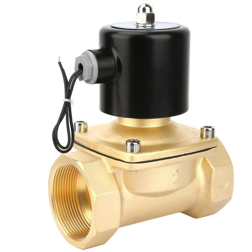 80℃ 1MPA 0-10KG Electric Solenoid Valve Durable Brass Normally Closed Electric Solenoid Valve for Water Oil Gas DC24V DN50-5℃