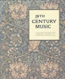 img - for 19th Century Music: Articles- Paraphrase in Ives's Second Symphony; 19th Century Tonality; :e Soleil Des Morts; Parallel Voice Leading in Debussy (1987 Journal) book / textbook / text book