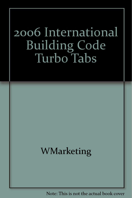 2006 International Building Code Turbo Tabs Pamphlet – January 1, 2006