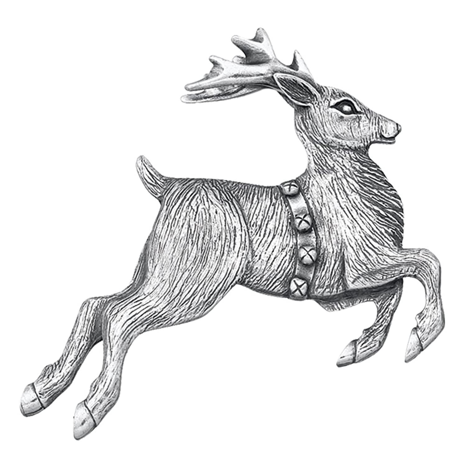 Danforth - Reindeer Pewter Brooch Pin