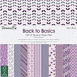Dovecraft Back to Basics collezione Berry Blush Confezione di carta, Carta, Pink, 12x12 Paper Pack