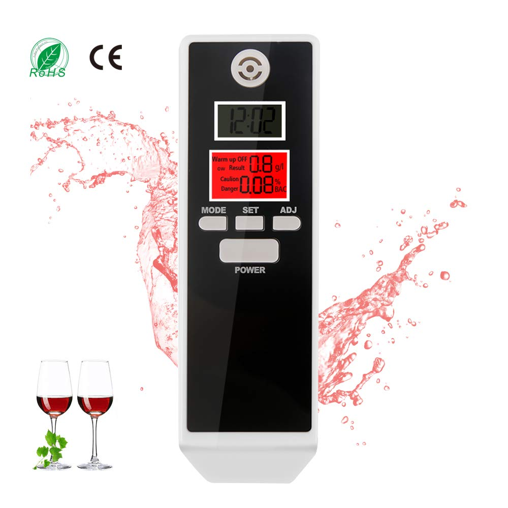 bedee Alkoholtester Atemalkohol Digital Alkohol Tester mit LCD Display Alkoholtest Test Analyzer Detector Anzeige Promilletester Alkotest Alkoholmessgerät mit Deutsches und Englisch Handbuch