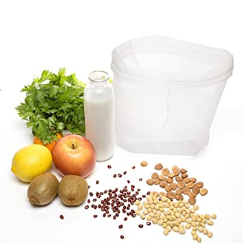Tuerca de leche bolsa – Estameña y alimentos Colador – Leche de almendras, tuerca,