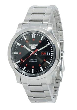 Reloj Seiko 5 Gent SNKN23K1 - Analógico Automático para Hombre en Acero inoxidable: Amazon.es: Relojes