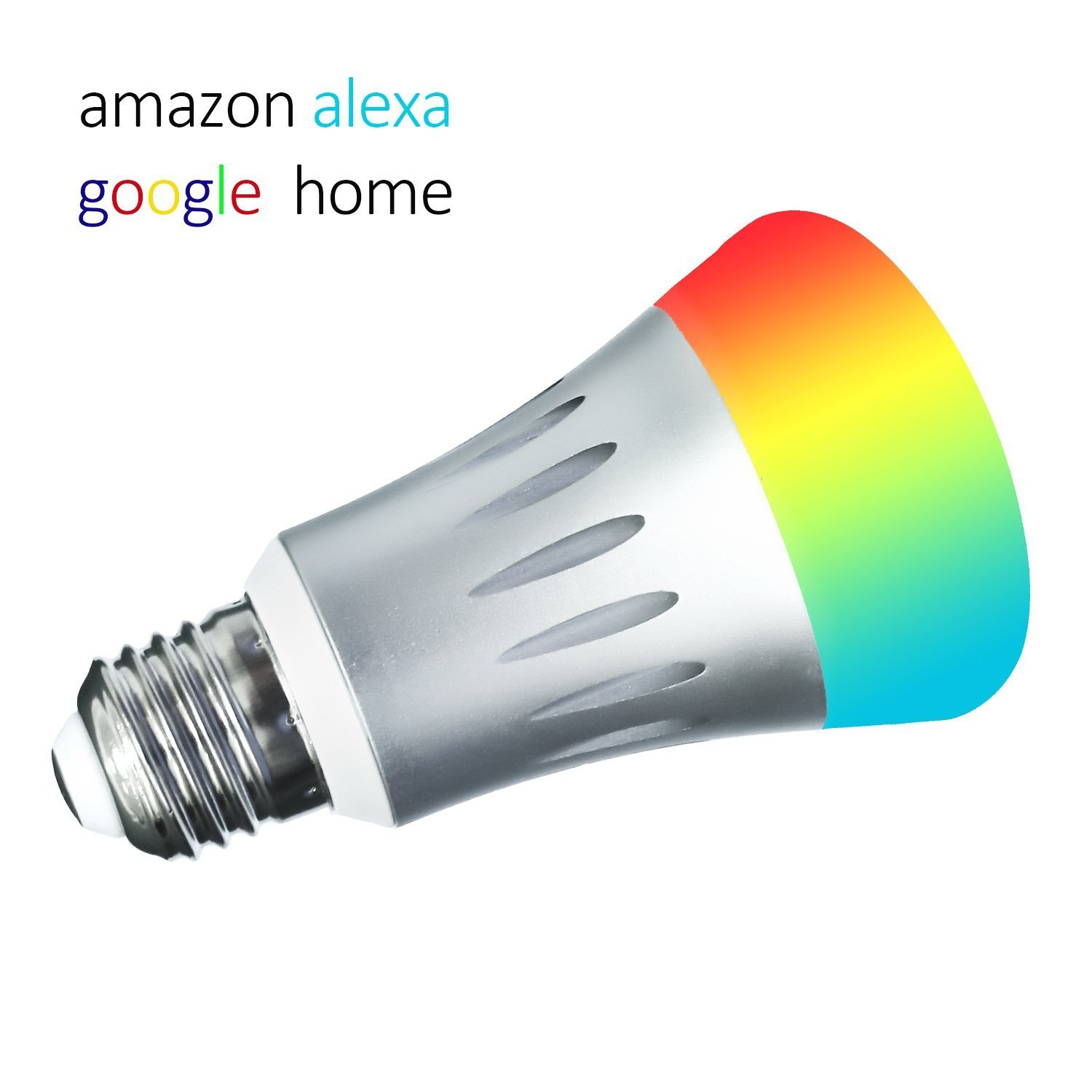 WiFi Led Light Bulbs,7W E27 Wireless WiFi Remote Control Smart Bulb Lamp Light Compatible with Alexa and Google Home, No Hub Required