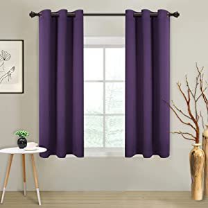 MYSKY HOME Grommet top Thermal Insulated Window Blackout Curtains, 42 x 63 Inch, Royal Purple, 1 Panel