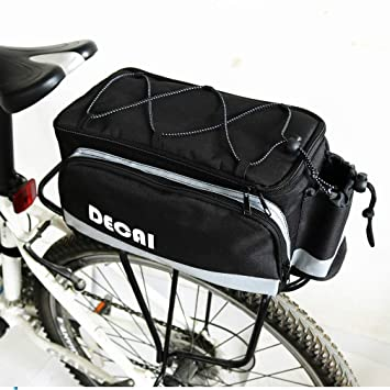 YUYAXBG Bolsa Trasera para Bicicleta Gran Capacidad Portátil ...
