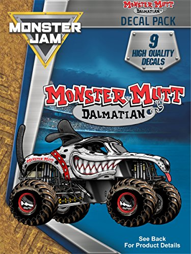 Monster Jam Monster Mutt Dalmatian Trucks Decal Pack for MacBook, Laptop, Vehicle - Includes 9 Stickers…