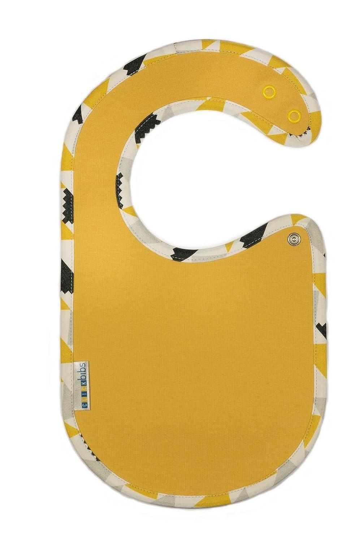 Clic kbibs Color Amarillo impermeable transpirable babero Bib de algod/ón y bamb/ú est/ándar de teletexto 100/ajustable Botones de presi/ón