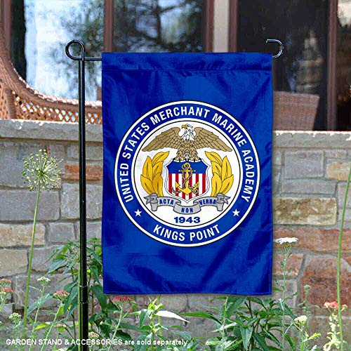 (College Flags and Banners Co. US Merchant Marine Mariners Seal Garden Flag)